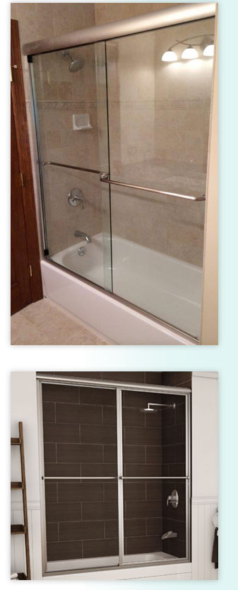 shower glass sliding doors